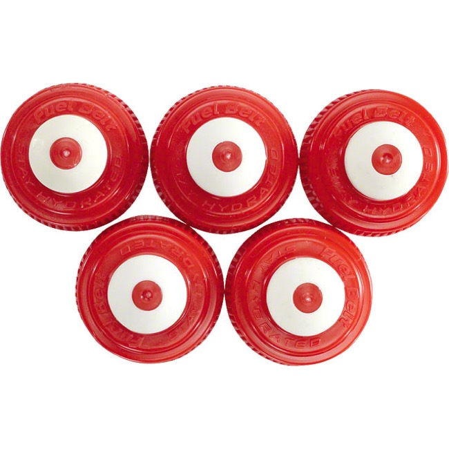 FuelBelt Water Bottle Replacement Caps - 5 Pack (Red)