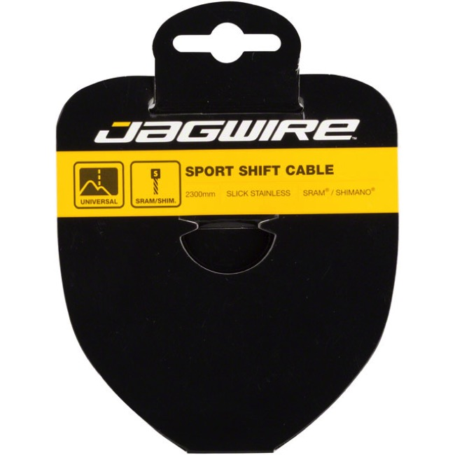 Jagwire Sport Slick Galvanized Derailleur Cables - Galvanized Steel 2300mm (Shimano Only)