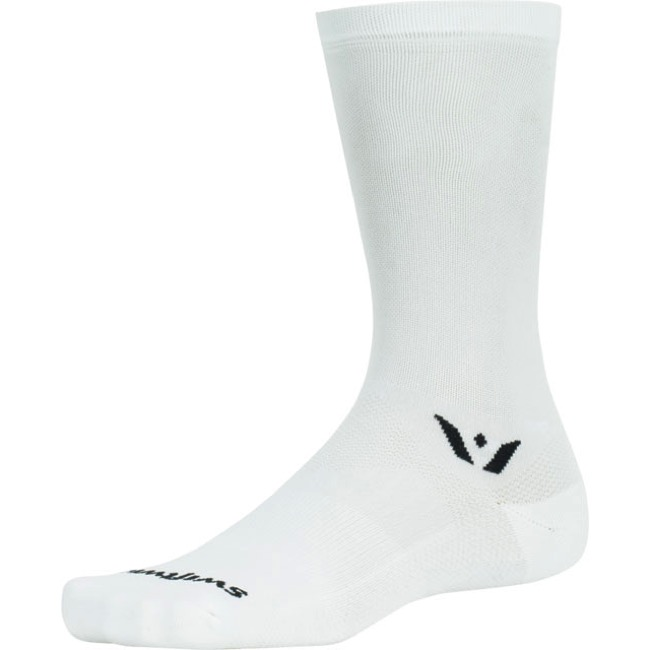 Swiftwick Performance Seven Socks - White - Large (White)