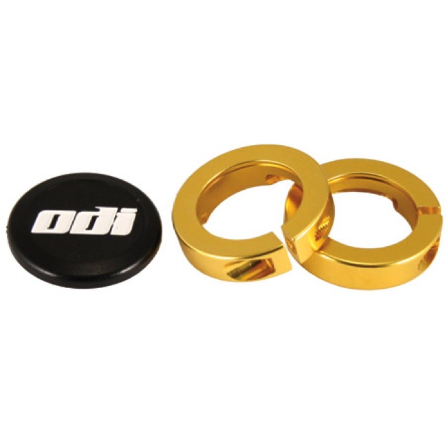 ODI Lock Jaw Clamps w/Snap Caps - Gold