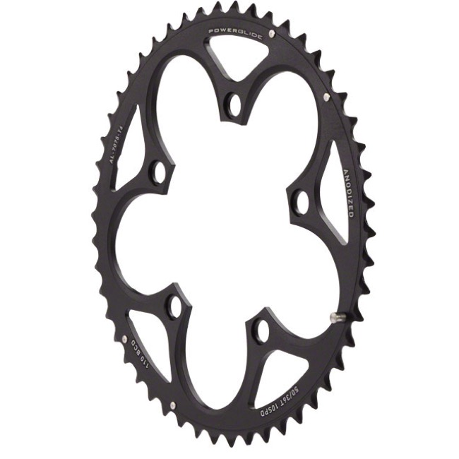 Sram Powerglide Black Chainrings - 10 Speed - 110mm x 50t for 34t inner