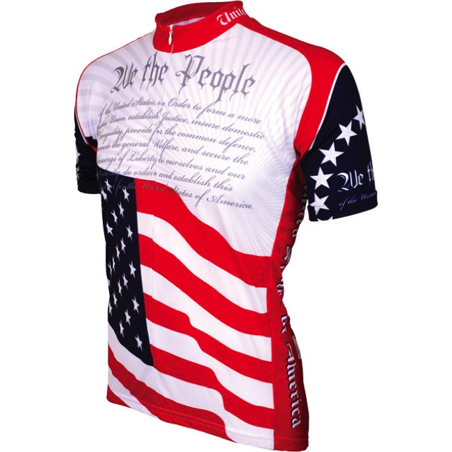 World Jerseys U.S. Constitution Jersey - Large (Red/White/Blue)
