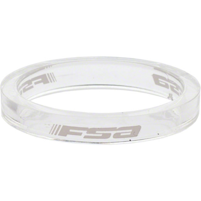 "FSA PolyCarbonate Headset Spacers - 1 1/8"" x 5mm Each (Clear)"