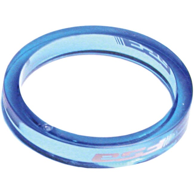 "FSA PolyCarbonate Headset Spacers - 1 1/8"" x 5mm Each (Blue)"
