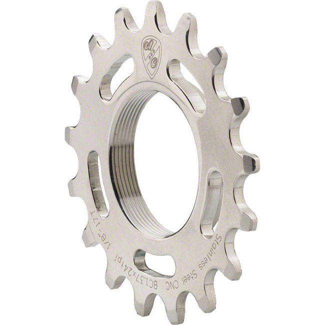 All-City Track Cogs - 15t (Silver) Stainless Steel