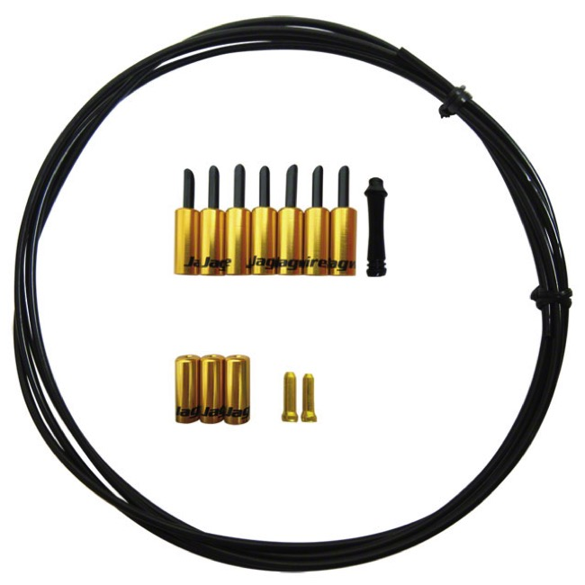 Jagwire Shift End Cap Seal Kit - 4.0mm and 4.5mm - 4.0mm (Gold)