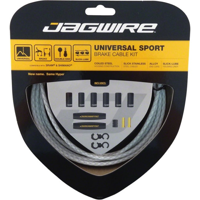 Jagwire Universal Sport Brake Cable/Housing Set - Braided White