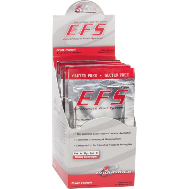 1st Endurance EFS Drink Mix - 10 Single Serving Packets (Fruit Punch)