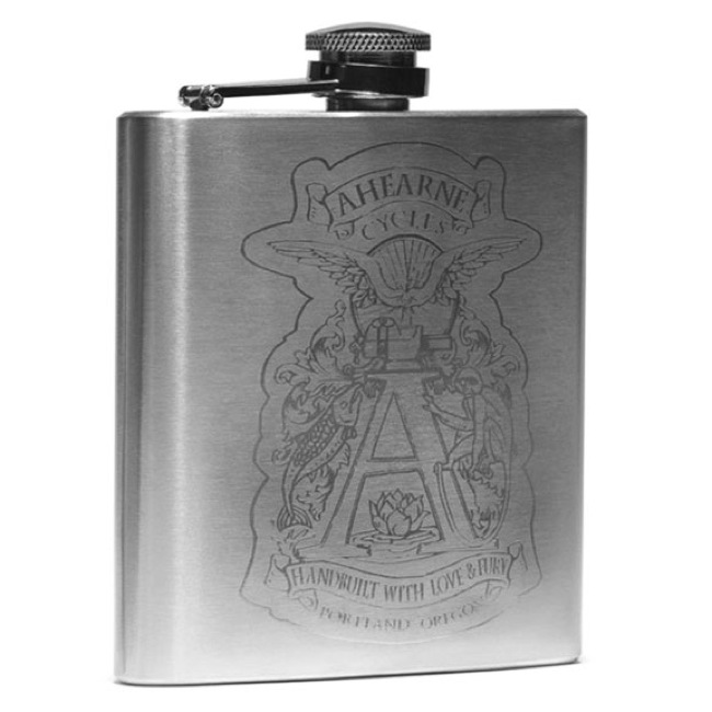 Ahearne Spaceman Bicycle Flask - Stainless 6oz.