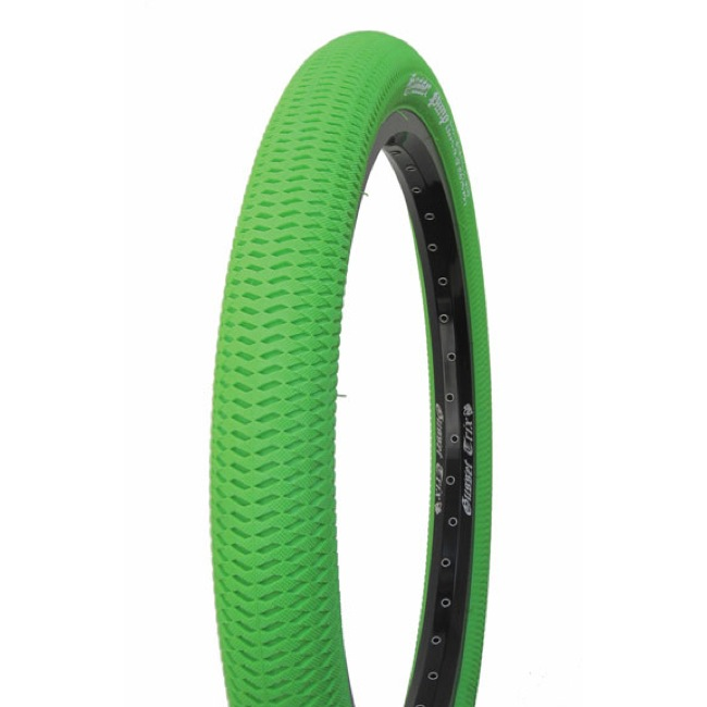 "Gusset Pimp Tire - 20 x 2.1"" (Green)"