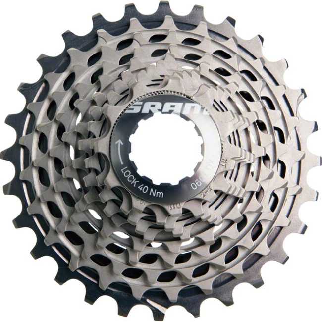 Sram Red XG-1090 Dome HG 10sp Cassette - 11-26t (11,12,13,14,15,17,19,21,23,26)