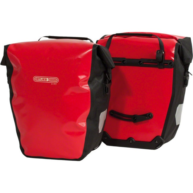 Ortlieb Back-Roller City Rear Panniers - Red/Black (Pair)