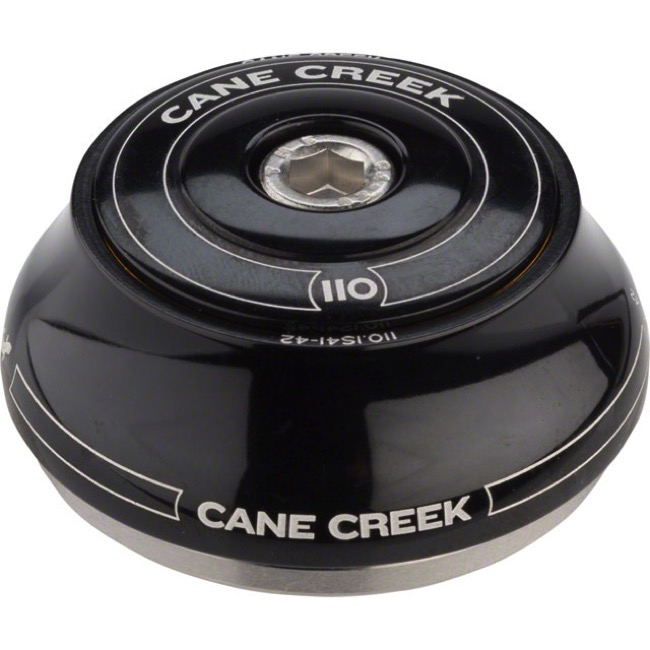 "Cane Creek 110-Series IS42 Upper - IS42/28.6 Upper Assembly, 1 1/8"" Steerer, Tall (Black)"