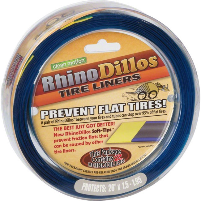 "Clean Motion RhinoDillos Tire Liners - Pair, 26 x 1.5-1.95"" (Silver)"