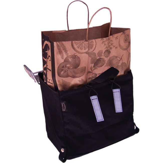 Banjo Brothers Minnehaha Canvas Grocery Pannier - Each (Black)