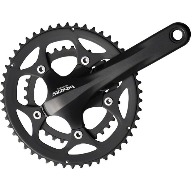 Shimano FC-3550 Sora Double Cranksets - 9 Speed - 175mm x 34/50t (Black)