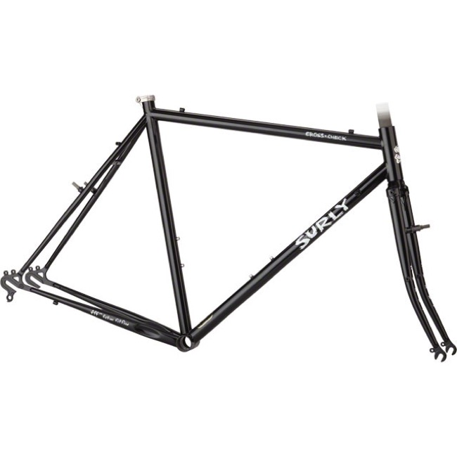 Surly Cross Check Frameset - Black Crown - 56cm (Black Crown)