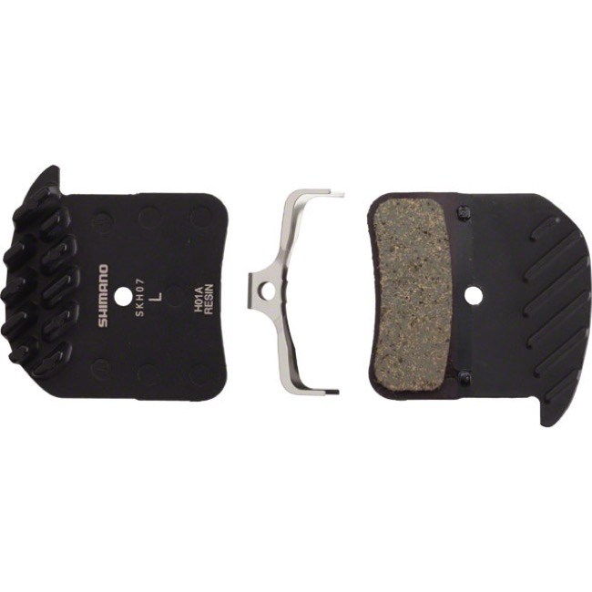 Shimano Disc Pads - H01A Resin with Fin/Alloy Back (Saint M820/ZEE M640 4-Piston)
