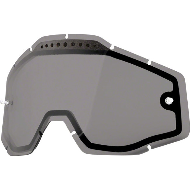 100% Goggles Replacement Lenses - Dual Lens (Smoke)
