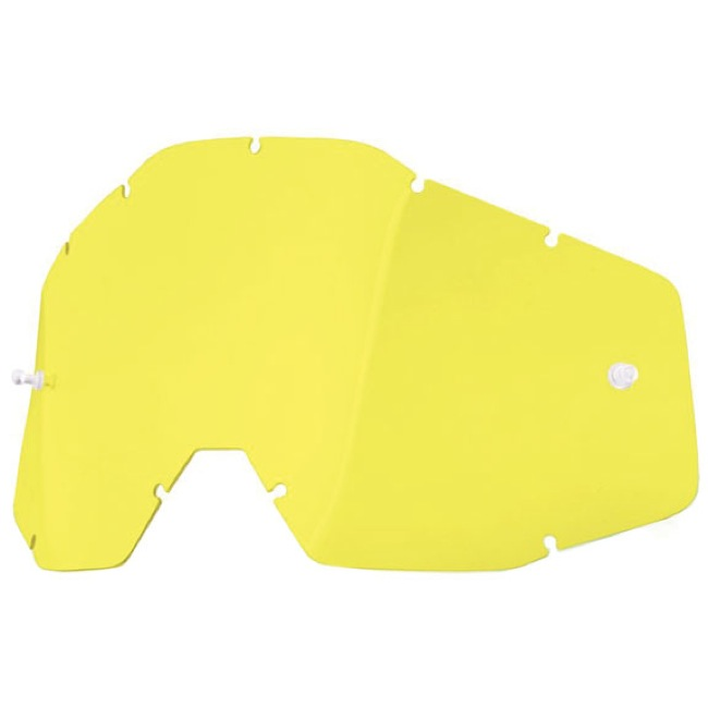 100% Goggles Replacement Lenses - Dual Lens (Yellow)