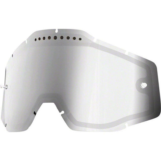100% Goggles Replacement Lenses - Dual Lens (Silver Mirror)