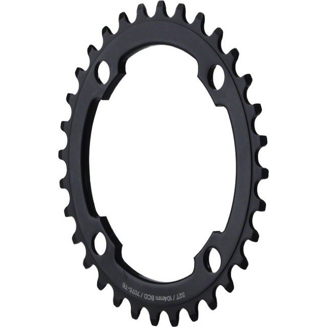 Dimension Single Speed Alloy Chainrings - 104mm - 104 x 32t (Black)