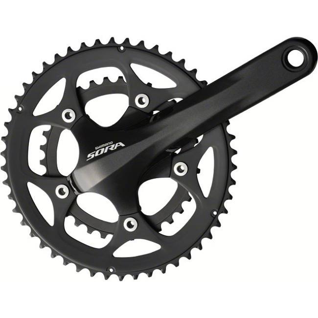 Shimano FC-3550 Sora Double Cranksets - 9 Speed - 165mm x 34/50t (Black)