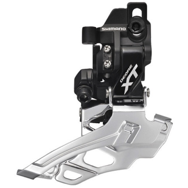 Shimano FD-M786 XT Direct Mount Front Derailleur - 2 x 10 Speed - Direct Mount, Top Pull (Black)