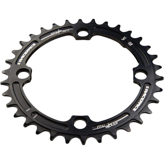 Race Face Narrow Wide Chainrings - 9/10/11/12 Speed - 104mm x 34t (Black)