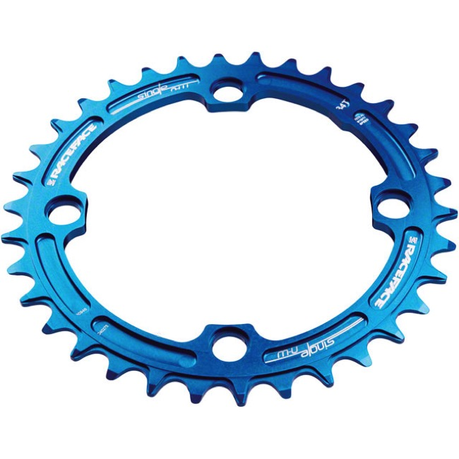 Race Face Narrow Wide Chainrings - 9/10/11/12 Speed - 104mm x 38t (Blue)