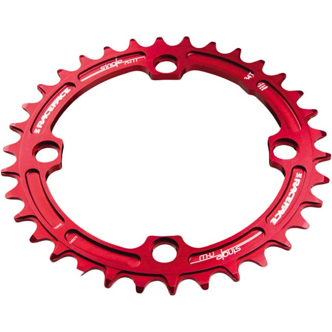 Race Face Narrow Wide Chainrings - 9/10/11/12 Speed - 104mm x 38t (Red)