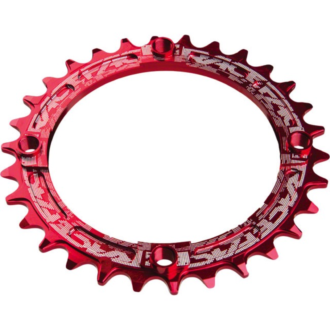 Race Face Narrow Wide Chainrings - 9/10/11/12 Speed - 104mm x 30t (Red)
