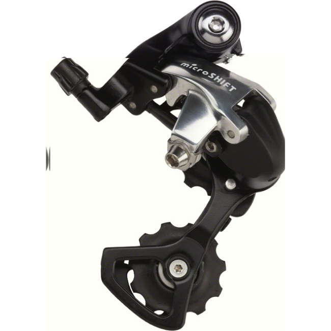 MicroShift RD-R42 Rear Derailleur - 9 Speed - Short Cage (Black/Silver)
