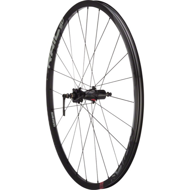 "Sram Rail 50 Tubeless 29"" Rear Wheels - Rear 29"" x 24h x 135mm QR/142mm TA, Shimano HG (Black)"