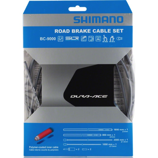 Shimano Dura-Ace 9000 Poly-Coated Brake Cable Set - Polymer Coated Set (Grey)