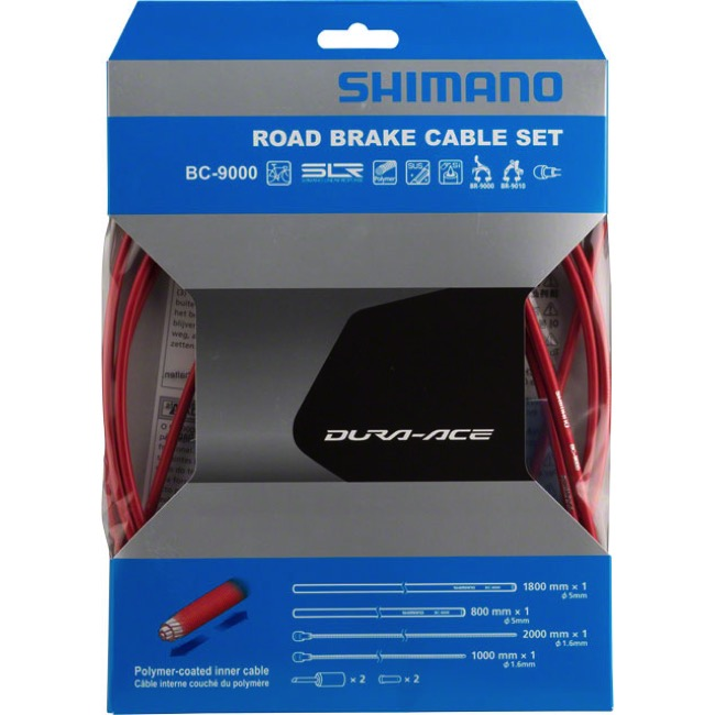 Shimano Dura-Ace 9000 Poly-Coated Brake Cable Set - Polymer Coated Set (Red)