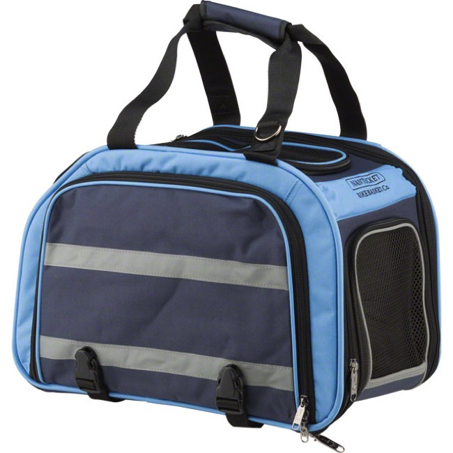 Nantucket Expandable Rear Rack Pet Carrier - Black/Blue