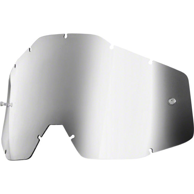 100% Goggles Replacement Lenses - Single Lens (Silver Mirror)