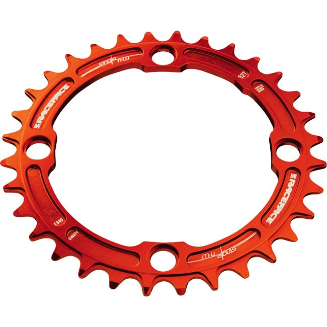 Race Face Narrow Wide Chainrings - 9/10/11/12 Speed - 104mm x 36t (Orange)