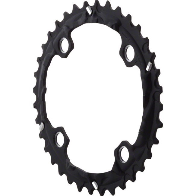 Shimano Deore LX T671 Triple Chainrings - 104 x 36t, Middle (For use with 26/36/48t)