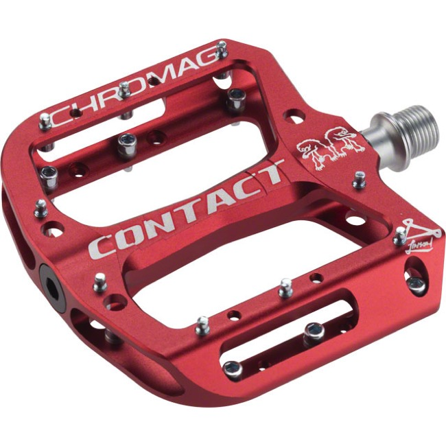 Chromag Contact Pedals - Pair (Red)