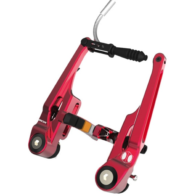 BOX Eclipse Long Linear Pull Brake - Rear (Red)