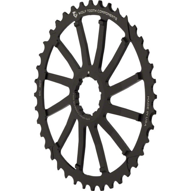 Wolf Tooth Components GC 40/42 Cogs - 10 Speed Shimano/Sram - 40 Tooth, Black (Sram 36t Compatible)