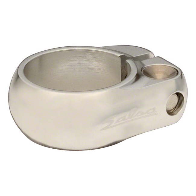 Salsa Lip Lock Seatpost Clamp Silver 36.4mm