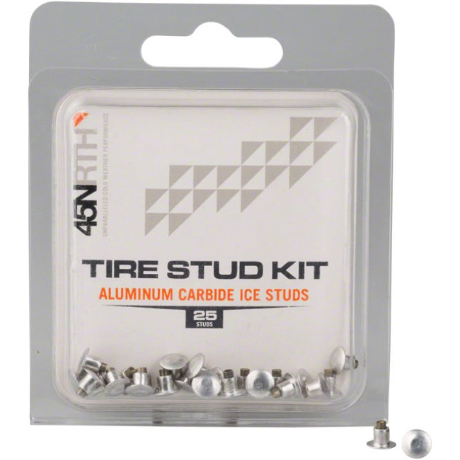 45NRTH Aluminum Carbide Concave Tire Stud Kits - Standard (Pack of 25)