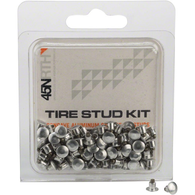 45NRTH Aluminum Carbide Concave Tire Stud Kits - Standard (Pack of 100)