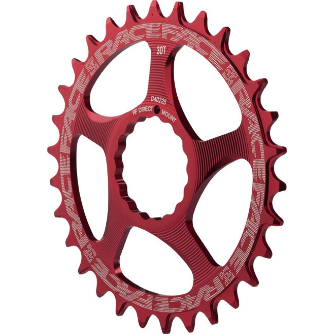 Race Face Direct Mount Cinch Narrow Wide Chainring - 2017 - 34 Tooth x Direct Mount (Red)
