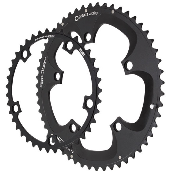 Praxis Works Forged Chainring Sets - 130mm BCD - 39/53t x 130mm BCD (2-Tone Clover)