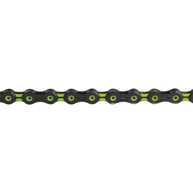 KMC X-11SL DLC Superlight Chains - 11 Speed (Black/Green)