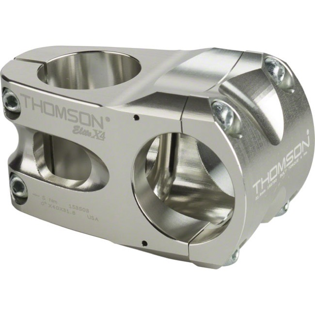 Thomson Elite X4 Mountain Stems - 40mm X 0 Deg X 31.8 Clamp (Silver)